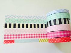 Set of 6 Thinner Width Washi Tapes by GoatGirlMH on Etsy