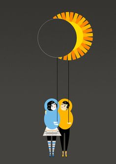 Made by: Luciano Lozano  - (Moon and the Sun on a String)