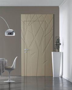 Blokdeur als binnendeur met mooi boomdecor