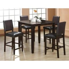 #10: 5 Pc Derick Counter Height Table and 4 Stools Set