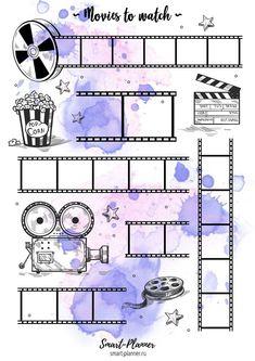 трекер цифрового детокса. скачать бесплатно.pdf   movies Planner Book, Blog Planner, Bullet Journal 2019, Daily Planner Printable, Journal Template, Journal Paper, Bullet Journal Inspiration, Bujo, Planner Stickers