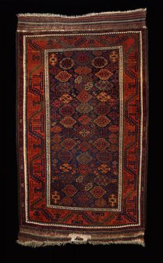 Culture Baluchi people Creation date about 1880 Collection Textiles Materials wool Dimensions 45 x 75 in. | 114.3 x 190.5 cm.