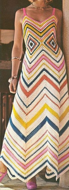 Vintage Crochet Dress  from the 60/70's