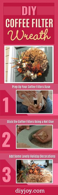 244 best country crafts images on pinterest country crafts how to make a coffee filter wreath best easy wreath for your door cheap solutioingenieria Gallery