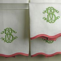 Beautiful monogrammed towels for the guest bathroom   Entertaining at Home   Preppy   Tablescapes   Dinnerware   China