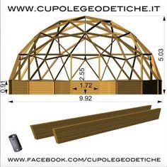 CUPOLA GEODETICA progettazione strutture prefabbricate gazebo in legno 2