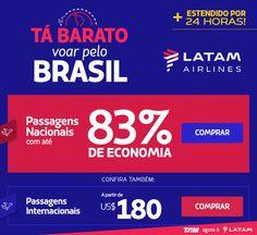 Estendido +24H: LATAM com 83% de economia. :: Jacytan Melo Passagens