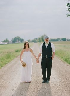 Wisconsin wedding ideas...I especially like the way the groom's dressed here. Not too dressy, but not too informal, either.