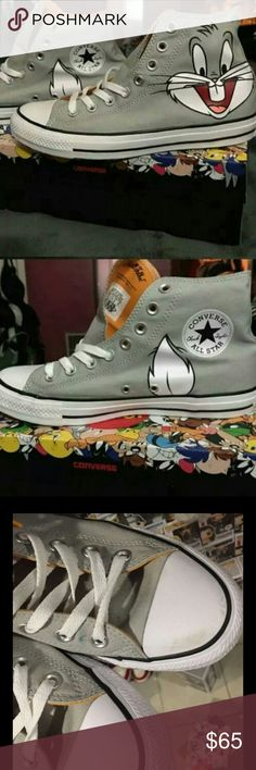 Looney Tunes *Bugs Bunny* CONVERSE Excellent condition! Only worn once indoors! My guy figured it wasn't really his thing!  These are unisex and will fit a men's size 9 or a women's sz 11. They come with the cutest collectible box! Absolutely no trades or holds!! A great fun addition to your Converse shoe collection!! Get them today!!  Converse Shoes Sneakers
