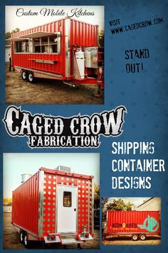 Caged Crow Fabrication - Custom Mobile Kitchens, Food Trucks, Concession Trailers, Food Wagons, Container Kiosks, Food Trailer, Mobile Kitchen Manufacturer, Mobile Kitchen Builder - Unique Designs, Quality Builds.  See   www.cagedcrowfabrication.com www.facebook.com/cagedcrowfabrication www.instagram.com/cagedcrowfabrication -  Located In Wisconsin.  Ships across the United States  Food Cart Ideas Food Truck Ideas  Food Trucks for Sale Food Carts for Sale Custom Mobile Kitchens Custom Food…