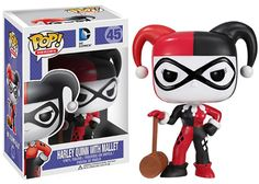 This is the Harley Quinn POP Vinyl figure that is produced by Funko. This Harley Quinn POP Vinyl figure is from Funko's DC Comics Heroes line of POP's. Very cool. Harley Quinn is probably one of the m Harley Quinn, Joker Et Harley, Funko Pop Marvel, Funko Pop Batman, Batman Batman, Batman Party, Marvel Dc, Pop Vinyl Figures, Funko Pop Figures