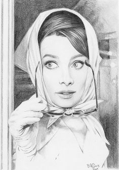 by BilquisEvely | 15 Amazing Drawings Of Audrey Hepburn