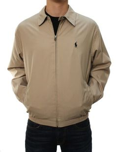 Polo Ralph Lauren Men Lightweight Jacket (L, Khaki) RALPH LAUREN ++ You can get best price to buy this with big discount just for you.++
