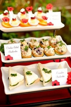 Tea sandwich buffet