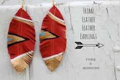 #Tribal leather earrings by Justine Abbitt /Sew Country Chick | Project | Jewelry / #Earrings | #Kollabora
