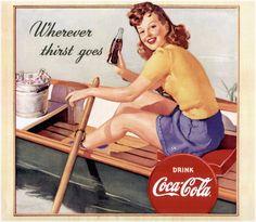 Vintage Coca-Cola boating