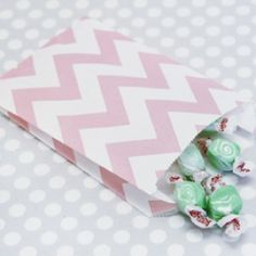 Pink Chevron Treat Bags (for our cookie bar!)