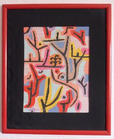 "Cross Stitch by Svetlana Shevchenko (Russia). Работа выполнена по картине  Пауля Клее ""Парк рядом с Люцерном""."