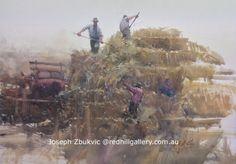 Joseph Zbukvic, Red Hill Gallery, Brisbane. Watercolour Painting, 'Golden Harvest'. redhillgallery.com.au Watercolor Portraits, Artist Painting, Joseph Zbukvic, Joseph, Artist Inspiration, Emotional Painting, Painting, Art, Watercolor Landscape