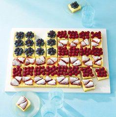 A Pretty, Patriotic Cheesecake Flag — Martha Stewart