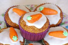 Simple Easter edible decoration idea: carrot muffin