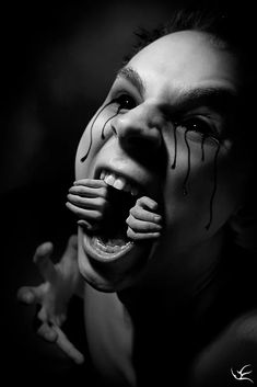 """""""The Pain by JarmoEllila @ deviantart Creepy Tattoos, Badass Tattoos, Life Tattoos, Horror Pictures, Dark Pictures, Scary Photography, Vampires, Dreams And Nightmares, Dark Thoughts"""