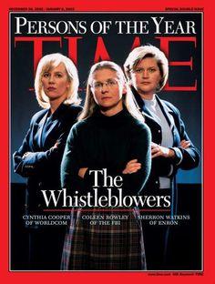 2002: The Whistleblowers: Cynthia Cooper, Coleen Rowley and Sherron Watkins