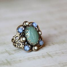 #Ruche                    #ring                     #victorian #cocktail #ring #Ollipop                 victorian cocktail ring by Ollipop                                            http://www.seapai.com/product.aspx?PID=490362