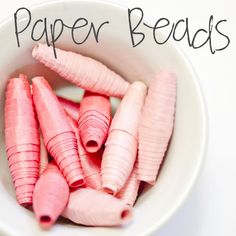 Preschool craft- copy the craft the women in Africa make and sell to make a living for themselves. Craft Activities For Kids, Preschool Crafts, Projects For Kids, Craft Projects, Crafts For Kids, Arts And Crafts, Craft Ideas, Paper Jewelry, Paper Beads