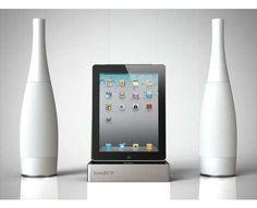 Wine Bottle Speakers - Emanuele Canova's Soundbox iPad Dock Station is Exceptionally Elegant