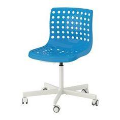 SKÅLBERG / SPORREN Swivel chair - blue/white, - - IKEA