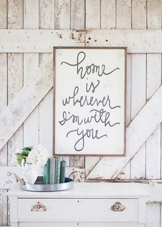 Home Is Wherever I'm With You - Aedriel by HouseofBelongingLLC on Etsy https://www.etsy.com/listing/198646709/home-is-wherever-im-with-you-aedriel
