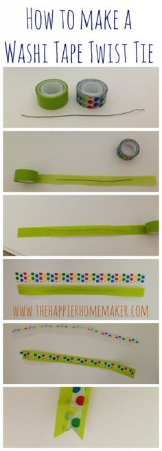 how to washi tape twist tie #ad #ScotchBTS