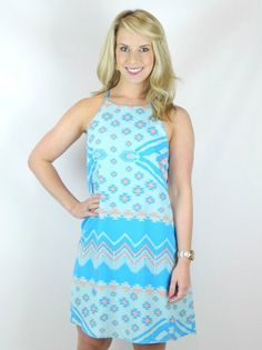 Baby Blue Aztec Dress - $37.99 : FashionCupcake, Designer Clothing, Accessories, and Gifts