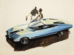 Ken Vendley, Design for Concept Car, 1959.