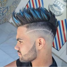 Best Fade Haircuts For Men Styles) 2019 Cool Spiky Mohawk + Bald Fade + Disconnected Beard. Mens Hairstyles Fade, Hipster Hairstyles, Cool Hairstyles For Men, Mohawk Hairstyles, Haircuts For Men, Hipster Haircut, Men's Haircuts, Short Haircut, 30 Hair Color
