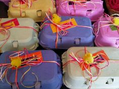 Have a Easter gift? Keep it in theme in Easter wrapping!  good for a secret pal  Pit Cadbury Mimi eggs or peeps in the box