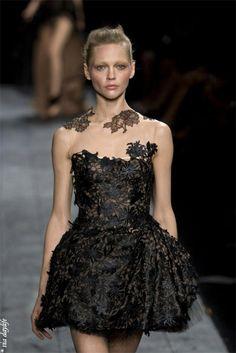 valentino haute couture black dress