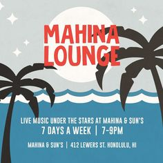 music lover? join us for live music under the stars 7 days a week.  #mahinalounge | #wishyouwerehere