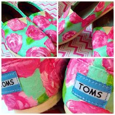 Hey, I found this really awesome Etsy listing at https://www.etsy.com/listing/164657508/hand-painted-lilly-pulitzer-toms-shoes
