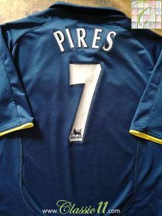 a4c255d51 2000 01 Arsenal 3rd Premier League Football Shirt Pires  7   Jersey