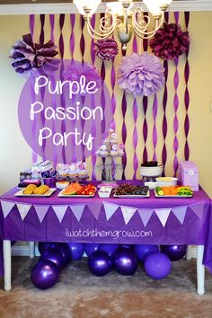 Purple Passion Party ~ I Watch Them Grow