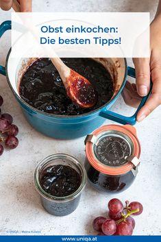 Ob Marmelade oder Kompott: Hier die besten Tipps und Tricks fürs Haltbarmachen von Obst! Slow Food, Chutneys, Tricks, Life Hacks, Bikini, Cooking, Diy, Pictures, Mascarpone