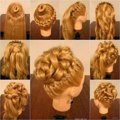 Whether you want braided or knotted updo, messy or twisted bun, or different chignon updos, we've got you covered with these step-by-step elegant hairstyles Medium Hair Braids, Braids With Curls, Medium Hair Styles, Natural Hair Styles, Short Hair Styles, Short Braids, Elegant Hairstyles, Braided Hairstyles, Wedding Hairstyles