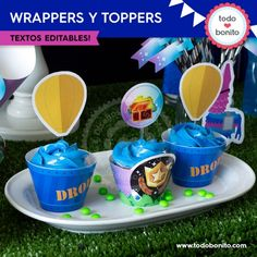 Fortnite: wrappers y toppers cupcakes Birthday Diy, Birthday Party Themes, Halloween Kids, Halloween Party, Porta Cupcake, Mini Pinatas, Cupcake Wrappers, Party Time, Cupcakes