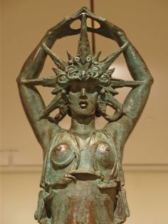"Star Maiden by Alexander Stirling Calder 1914 - California USA Crocker Art Museum - Sacramento (father of Alexander ""Sandy"" Calder) Art Nouveau, Art Deco, Famous Sculptures, Statues, Ancient Art, Art Museum, Fiber Art, Sculpture Art, Fantasy Art"