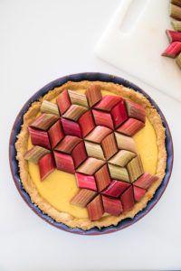 Rhubarb tart recipe by Candy Company Rhubarb Tart, Pies Art, Candy Companies, Sweet Pie, Tart Recipes, Summer Desserts, Food Gifts, Delish, Cake Decorating