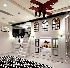 40 Stylish Kids' Bedroom - Page 8 of 44 - coloredbikinis. Cool Kids Bedrooms, Kids Bedroom Designs, Cute Bedroom Ideas, Cute Room Decor, Kids Room Design, Awesome Bedrooms, Cool Rooms, Boys Shared Bedroom Ideas, Kids Bedroom Ideas