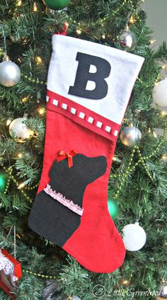 Easy No-Sew Christmas Stockings for Pets