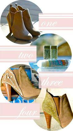 fashion DIY: GLITTER BOOTS   bellaMUMMA